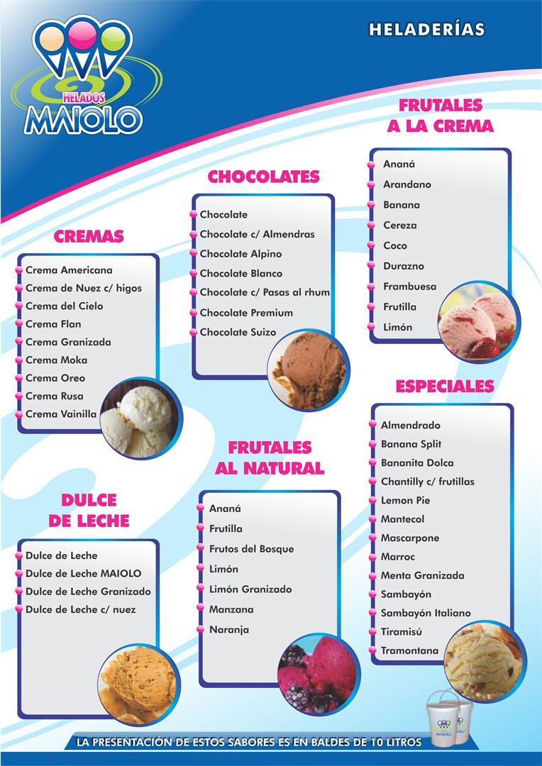 heladerias - gustos